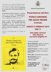 Poesia (urgente) per Giulio Regeni @ Villa Marazzi